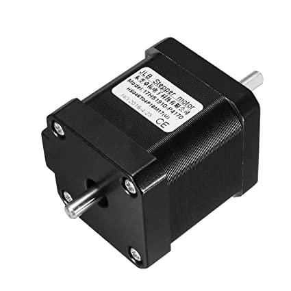 Double Shaft Motor Faway Double Shaft Nema 17 Stepper Motor 1.7A 0.55Nm Bipolar 4 Wires for DIY 3D Pinter CNC