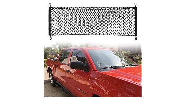 Truck Bed Cargo Net Car Hammock Style Trunk Storage Organizer Net Fit Ford F-150 F150 2014 2015 2016 2017 2018 2019 Chompoo