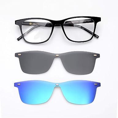 953abdbece GLASSESKING Magnetic Sunglasses Clip On Sunglasses Polarized Lenses 1 Frame  with 2 Sunglasses Lenses
