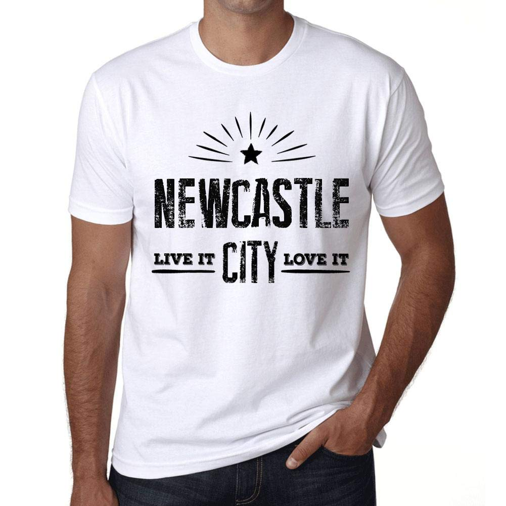 Hombre Camiseta Vintage T-Shirt Live It Love It Newcastle Blanco ...