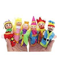 PAOLIAN 6pcs Dedo Juguetes Mano Marionetas Navidad Regalo Se Para Accidentalmente
