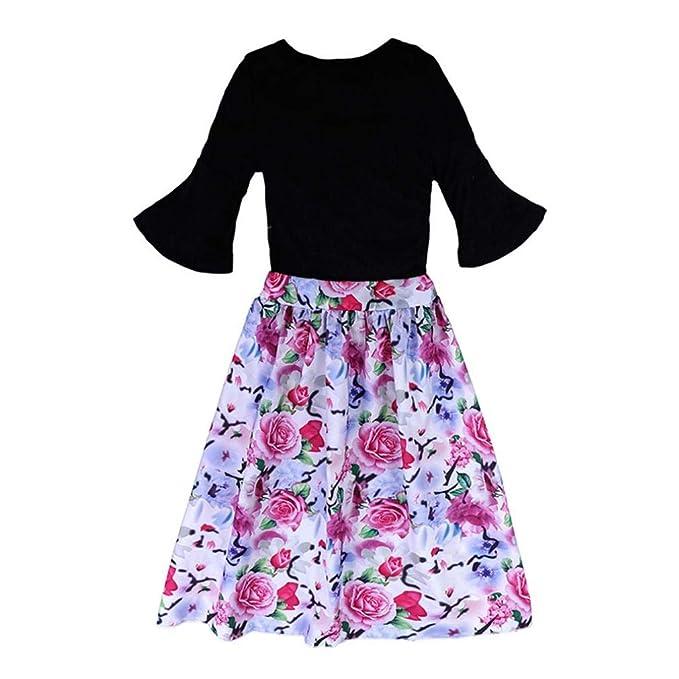 Conjuntos Bebe, ASHOP 0-7 años Niño Niña Otoño/Invierno Ropa Conjuntos, Tops de Camiseta sólida+ Shorts Florales+ Pantalones Cortos: Amazon.es: Ropa y ...