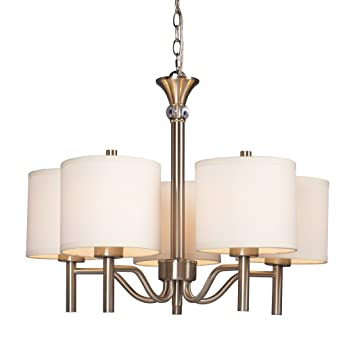Galaxy Lighting 813043BN 5 Light Ansley Chandelier Brushed