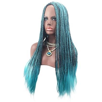 Majome Peluca de pelo de las mujeres trenzada pelucas del traje de la manera sintética Cosplay