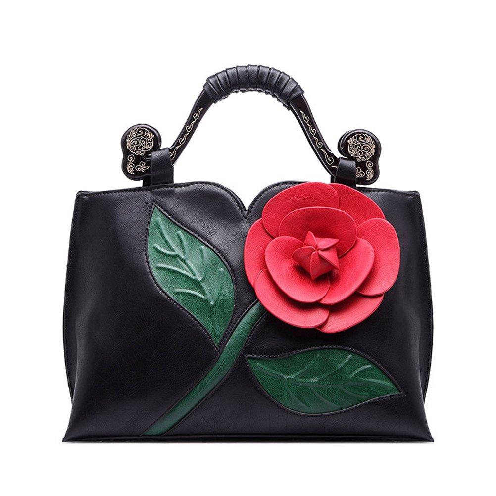 SUNROLAN 6111hei Women's Top Handle Satchel Handbags Formal Party Wallets Wedding Purses Wristlets Ethnic Totes Evening Clutches