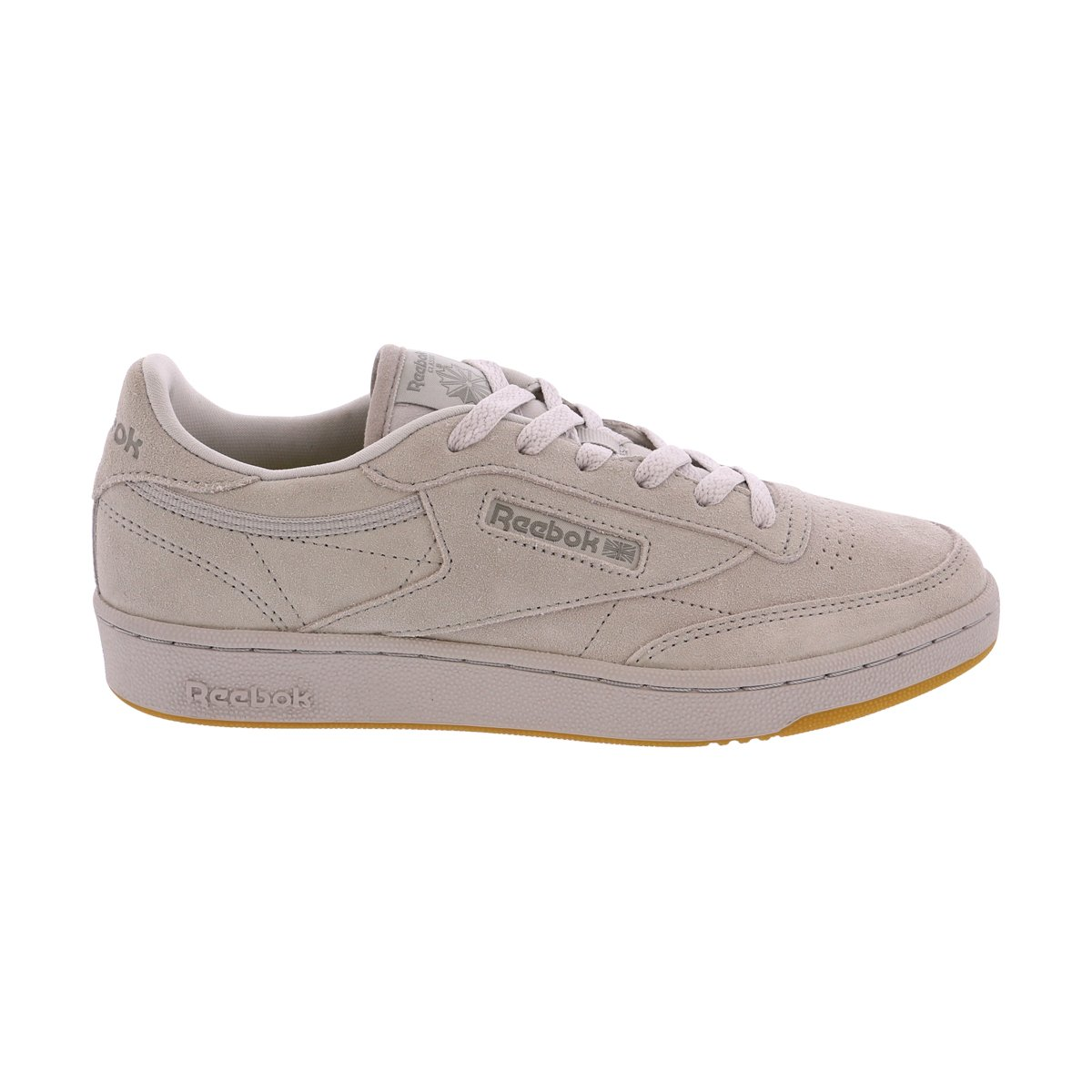 Reebok Kids Unisex Club C 85 TG (Big Kid) Steel/Carbon/Gum Athletic Shoe