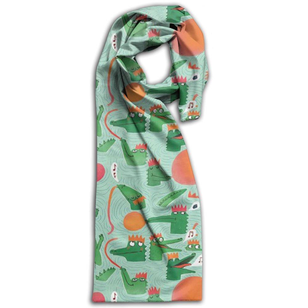 Alligator Animal Oblong Breathable Women Scarf Fashionable For Bandana Girl Shawl