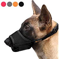Heele Dog Muzzle Nylon Soft Muzzle Anti-Biting Barking Secure,Mesh Breathable Pets Mouth Cover for Small Medium Large…