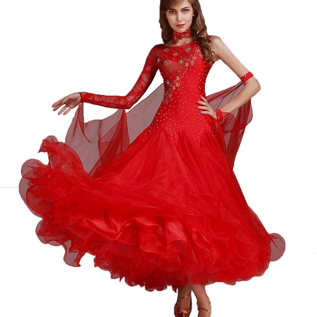 【公式ショップ】 女性用のダンスドレスワルツパフォーマンス民族衣装レースの袖の競争社交ドレスシリーズダンスドレス B07QN57PQ2 B07QN57PQ2 M|レッド M|レッド レッド M M, JKazu:24b667e9 --- a0267596.xsph.ru
