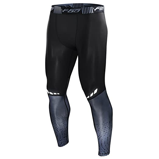 e022f23a35bf0 HURMES Men's Sports Compression Pants – Premium Cool Dry Tights Running Baselayer  Leggings for Gym,