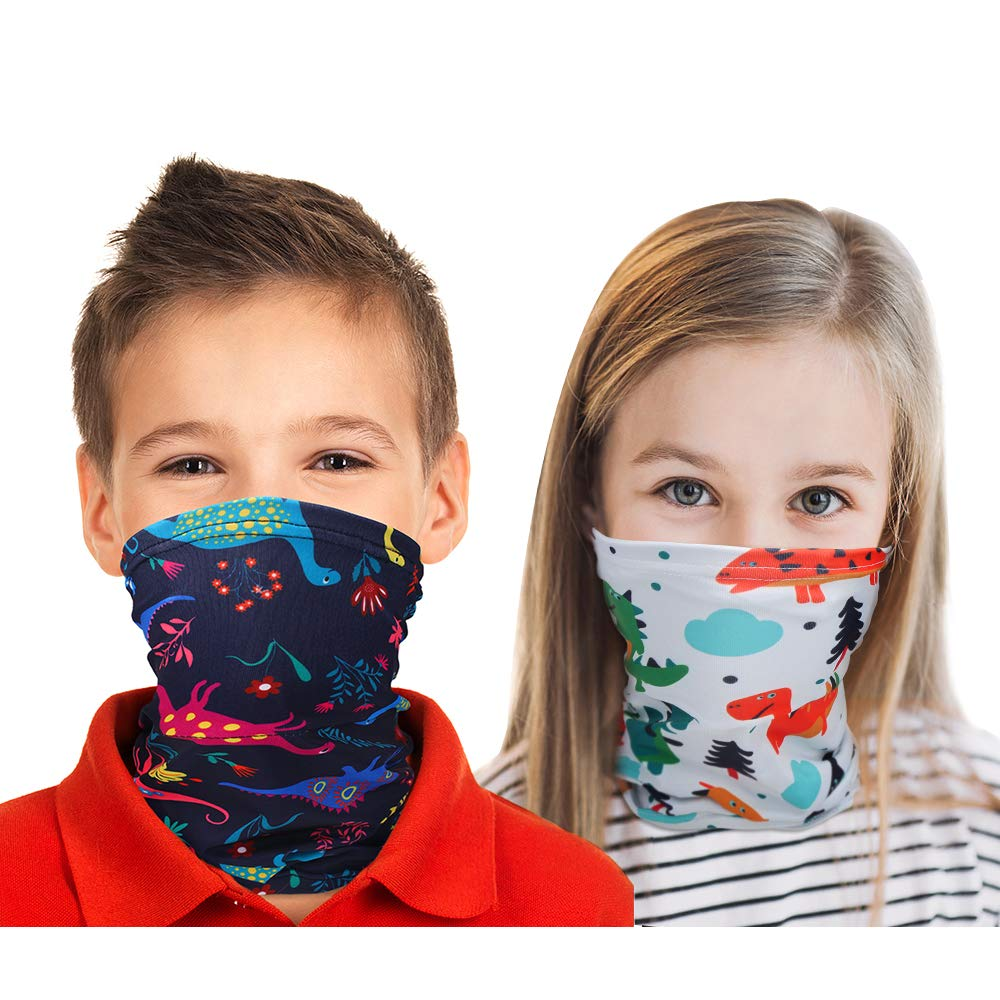 Kids Neck Gaiters Balaclava Bandanas Face Covering for Children Summer Neck Gaiter Color 2