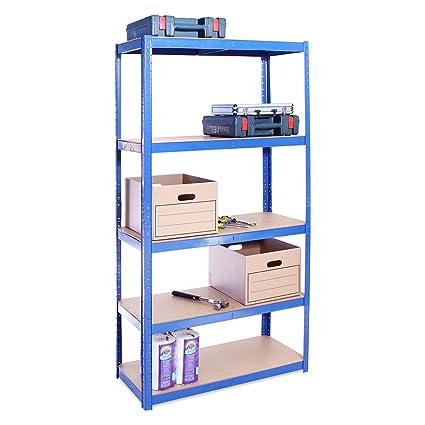 180cm X 90cm X 40cm Blue 5 Tier 175kg Per Shelf 875kg Capacity