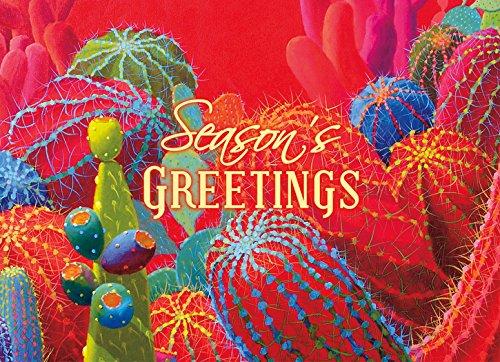サボテン:ボックスLPG Greetings鮮やかな色の18 Sharon Weiser Westernクリスマスカード B077C1WXV3