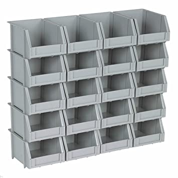 Captivating Small Mini Plastic Parts Bin Storage Rack For Organizer Bolts Beads   20  Bins