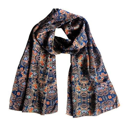 Silk Mirror (TC Luxury Satin Silk Scarf in Beautiful prints (Mirror Blue))