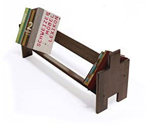 MAYA ORGANIC Furniture - Dismantlable and Stackable Solid wood Book Shelf : BOOK BUILDER ( Single Unit ) Mahagony Colour
