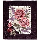 Lavish Home Heavy Thick Plush Mink Blanket, 8-Pound, Rose