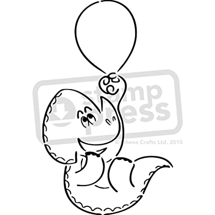 amazon com a5 dinosaur with balloon wall stencil template