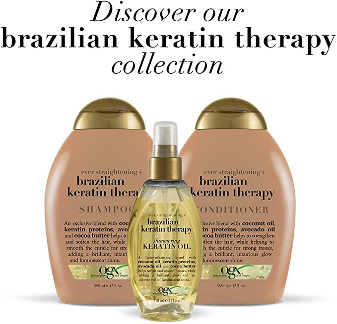 Organix Conditioner Brazilian Keratin Therapy 385 ml: Amazon.es ...