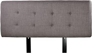 product image for MJL Furniture Designs Ali Padded Bedroom Headboard Contemporary Styled Bedroom Décor, HJM100 Series Headboard, Gray with Red Tint Finish, Full Sized, USA Made