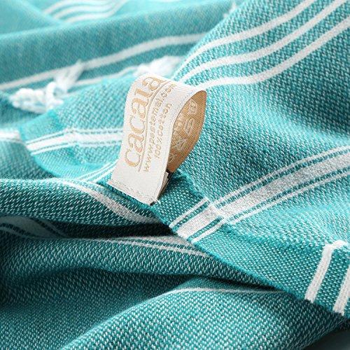 Cacala Toallas de baño turco de serie, algodón, agua, 95 x 175 x 0.5 cm: Amazon.es: Hogar