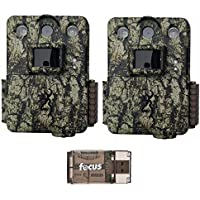 Two Browning Trail Cameras Command Ops Pro Game Cameras (14MP, Camo) with Focus USB Card Reader