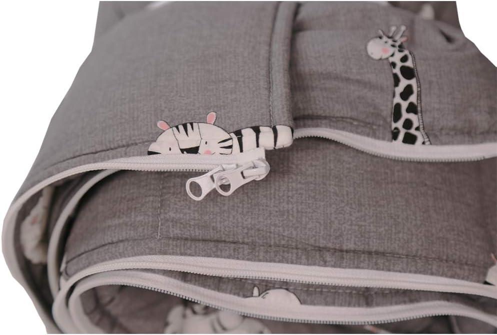 2,5 tog con almohada, saco de dormir para ni/ños con cremallera para camping, fiesta, guarder/ía, 18-36 meses, 3-6 a/ños HB.YE Grey Elephant /& Lion Talla:140cm Saco de dormir para beb/é 140 cm