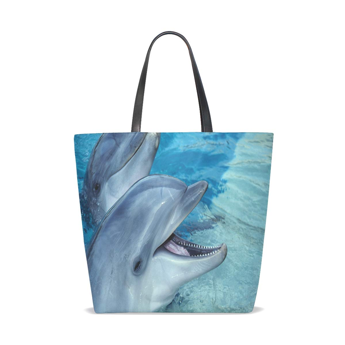 Amazon.com : Dolphin Island Fantasy Animals Tote Bag Purse ...