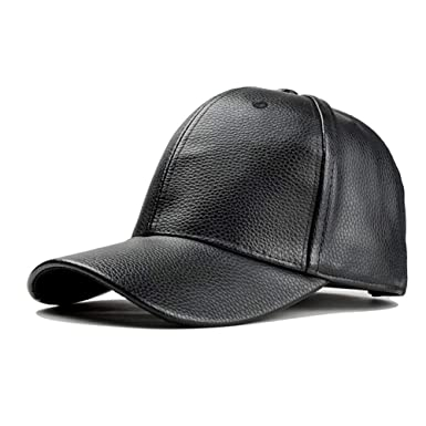 262de4e332e Amazon.com  Yhuisen Fashion Autumn and Winter Ladies Leather Hat Casual Hat  Motorcycle Baseball Cap Ladies (Color   Black