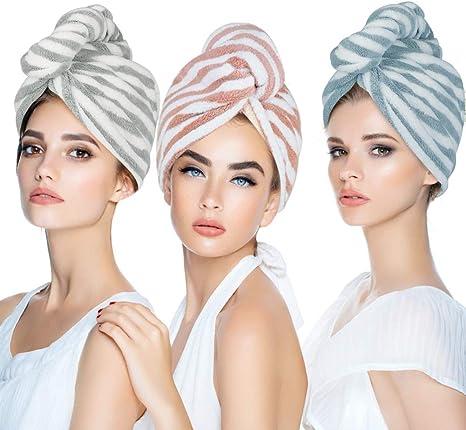 NEW Quick Dry Magic Hair Turban Microfibre Towel Wrap Cap Hat Bath Shower 2020