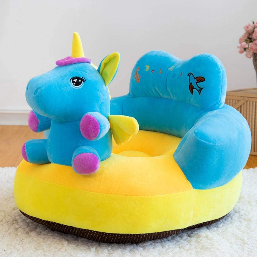 Prettygood7 Baby Sofa Support Seat Cartoon Animal Baby Sofa Cover Learning to Sit Chair Seat Skin No Filler