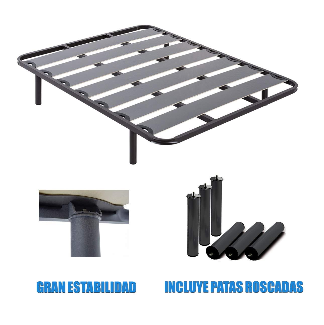 Duermete Somier de Láminas Anchas Reforzado Estructura 40x30mm con ...