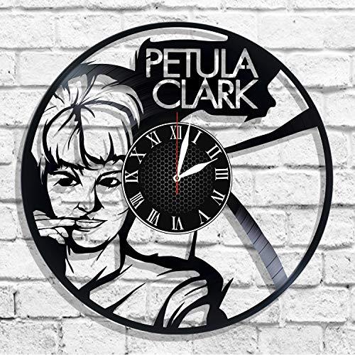 Petula Clark singer vinyl record wall clock, Petula Clark gift for any occasion -