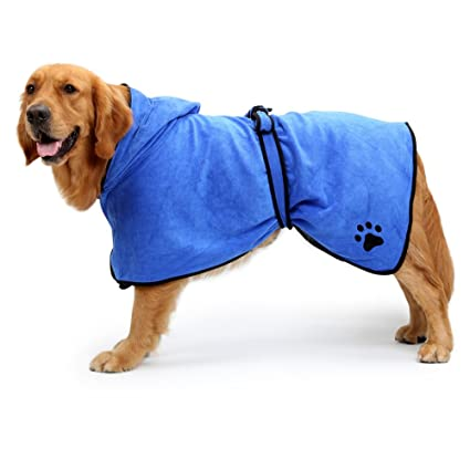 NACOCO Dog Bathrobe Towel Microfiber Pet Drying Moisture Absorbing Towels  Coat for Dog and Cat ( 8fcb2c30c