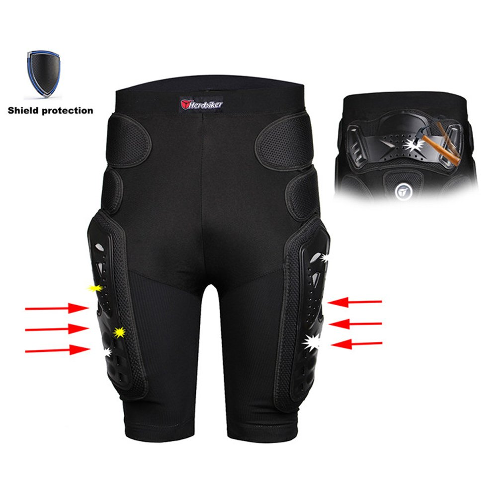 HEROBIKER Unisex Moto Sport Protective Gear Hip Pad Motorcross Off-Road Downhill Mountain Bike Skating Ski Hockey Armor Shorts (XL) by HEROBIKER (Image #6)