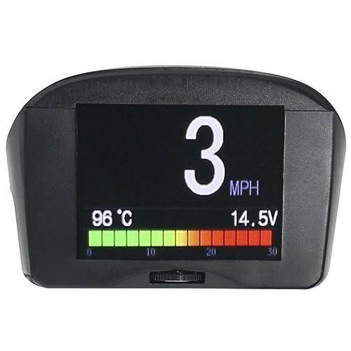 Ordinateur de bord pour voiture OBD HUD Compteur de vitesse, alarme, température Affichage km/H OBD Convient pour véhicules Diesel 12V OBDII