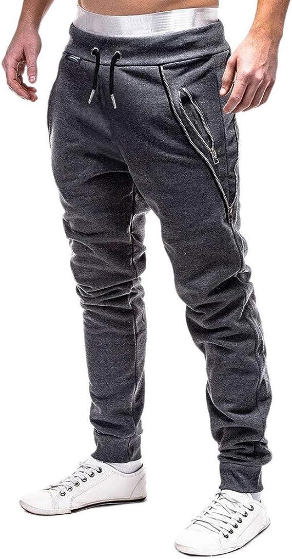 VPASS Pantalones para Hombre, Pantalones Moda Pop Casuales Chándal de Hombres Jogging Pants Trend Largo Pantalones Diseño de Personalidad: Amazon.es: Ropa y accesorios