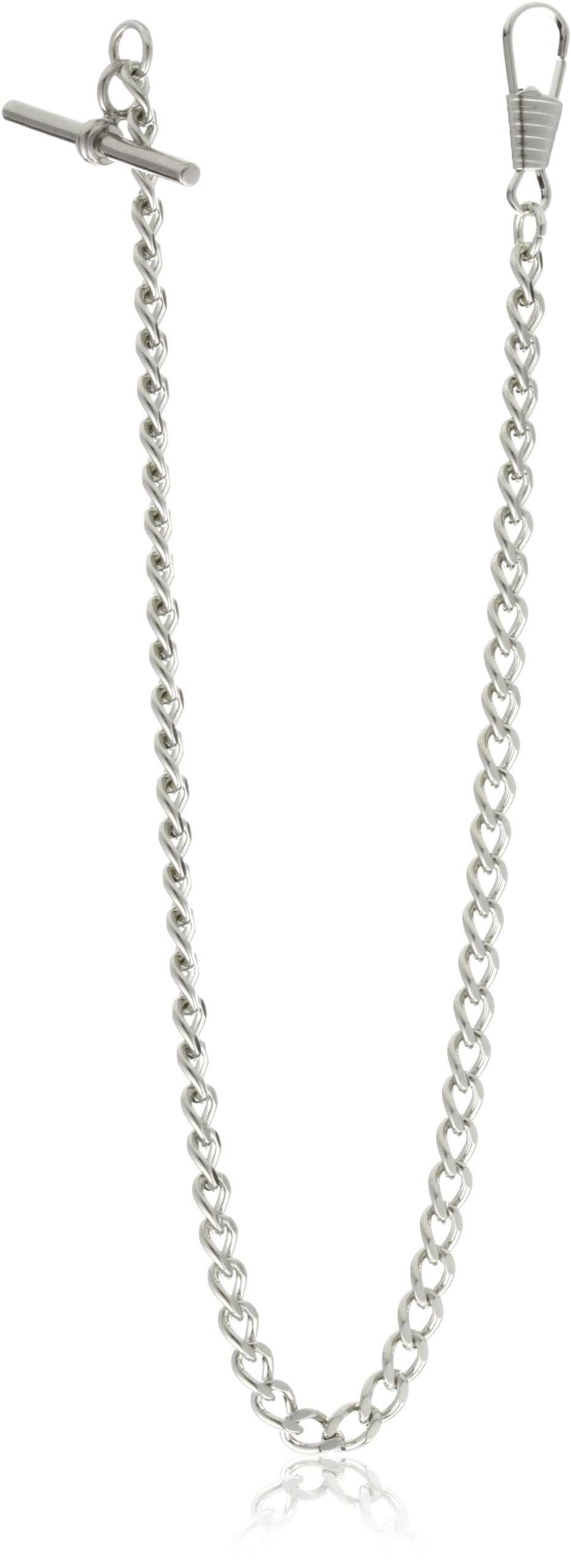 Charles-Hubert, Paris 3910-W T-Bar Pocket Watch Chain