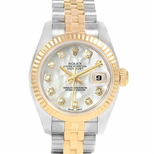 Rolex Datejust 179173 - Reloj de pulsera hembra automático, diseño con certificado de autenticidad: Rolex: Amazon.es: Relojes