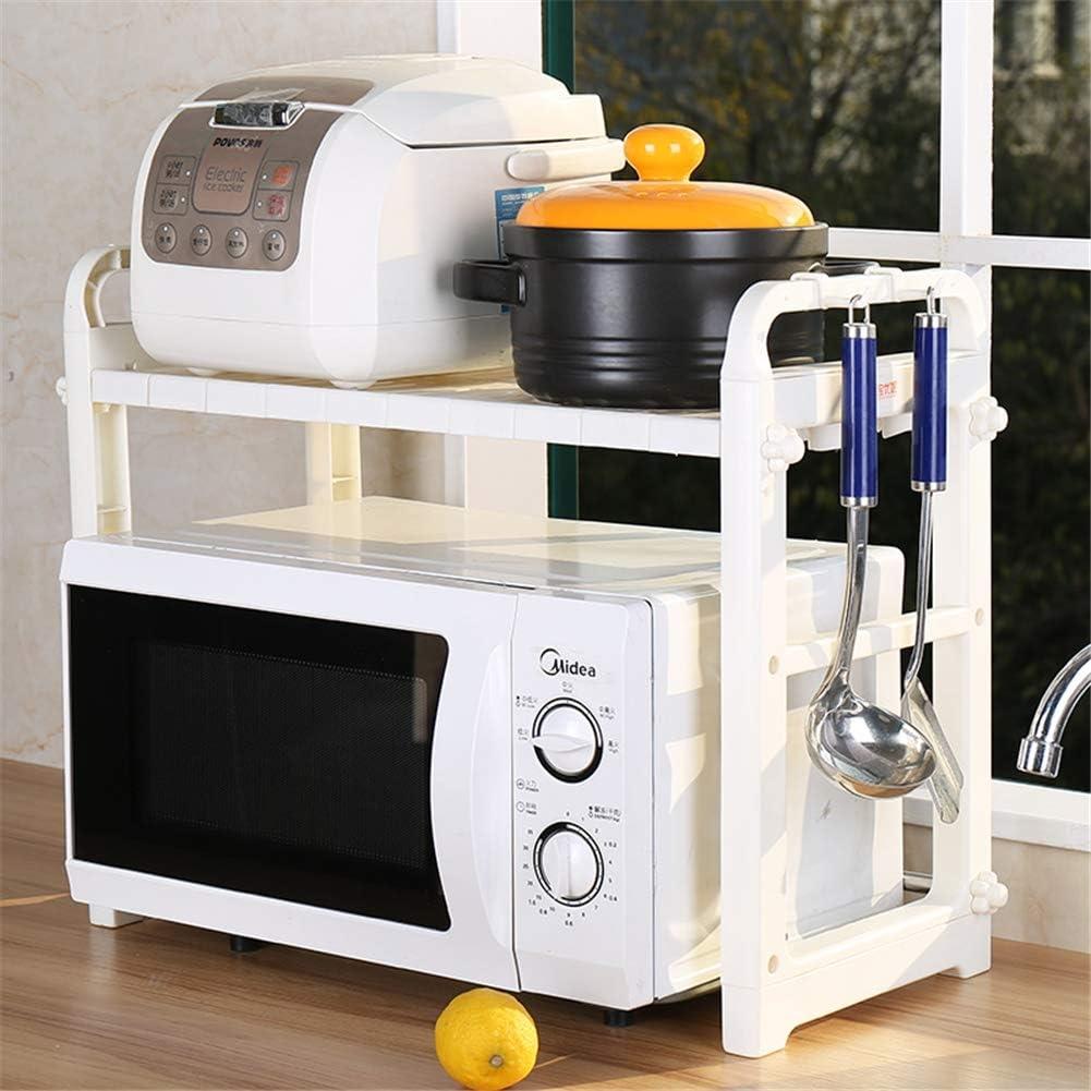 Rejilla de horno de microondas, cocina de 2 niveles, estante de mostrador de acero inoxidable Organizador de microondas Soporte para horno,A A