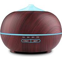 Tenswall Diffusore Atomizzatore di essenze e aromi ad Ultrasuoni 400ml,Umidificatore con 7 colori LED selezionabili, Purificatore aria
