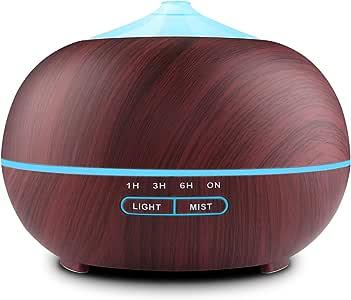 Tenswall Humidificador Ultrasónico 400ml, Difusor de Aromaterapia ...