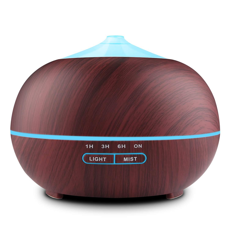 Tenswall Humidificador Ultrasónico 400ml, Difusor de Aromaterapia, Difusor de Aceites Esenciales, purificador de