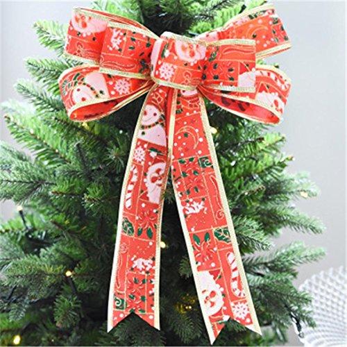 Simple Men Diy Costumes (Iuhan Christmas Tree Ornament Christmas Ornament Bowknot Festival Supplies Hanging Xmas Home Decors (L,)