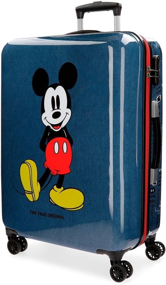 Maleta mediana Mickey Blue rígida 69cm 4R