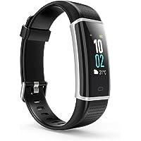 Montre Connectée, Bracelet Podometre Etanche IP68, Fitness Tracker d'Activité Connecté GPS avec Cardiofréquencemètre pour Femme Homme, Compatible Smartphone iOS et Android, 14 Modes de Sports