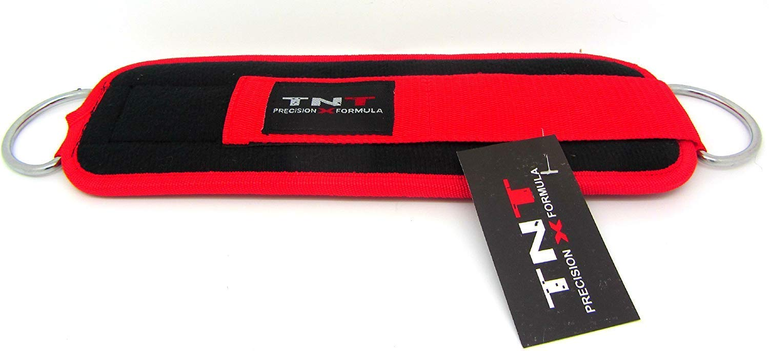 Multi Gym Attachment Physio,Yoga,Rehab Ankle Ankle Strap NEOPRENE Tnt Black//Red Single For Cable Machine Attachment