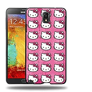 Case88 Designs Hello Kitty Collection 0624 Protective Snap-on Hard Back Case Cover for Samsung Galaxy Note 3