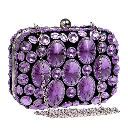 Dîner color Purple De Diamant Weatly Purple Sac Brillant aEqSnS