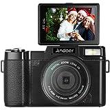 كاميرا فيديو Andoer الرقمية عالية الدقة 1080P 24 ميجا بكسل شاشة LCD قابلة للدوران 3.0 بوصة مضادة للاهتزاز 4X زووم رقمي…